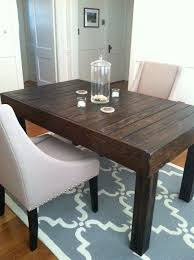 Reclaimed Pallet Wood Dining Table Upcycled Lapalletcreations Within Small Wooden Kitchen Plan