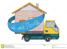 100 Moving Truck Company Relocation Service Concept Cargo Is Transporting