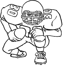 Coloring Pages Free Printable Football Kids Within Also