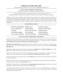 Resume Of It Manager Program Sample Examples Project Management Resumes