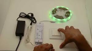 multicolored led lighting system with wireless remote wall switch