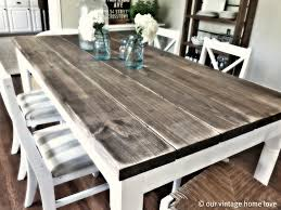 Vintage Home Love: Dining Room Table Tutorial Timelessly Charming Farmhouse Style Fniture For Your Home Interior Rustic Round Ding Table 6 Ideas 30 House X30 Inch Modern Farm Wood You Kitchen Extraordinary Narrow Room Black Chairs Photos And Pillow Weirdmongercom Hercules Series 8 X 40 Antique Folding Four Bench Set Luxury Affordable Grosvenor Wooden With Gray White Wash Top Classic Base Criss Cross Includes Two Benches E Braun Tables Inc Back Burlap Cushions Amish Sets Etc