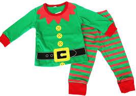 groopdealz kids santa and elf pajamas