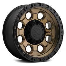 100 16 Truck Wheels ATX Series AX201 Matte Bronze Black Lip X8 Wheel SET INCH