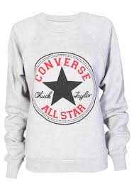 converse sweatshirt in grey womens clothing sale womens fashion