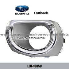 subaru outback drl led daytime running lights car headlight parts