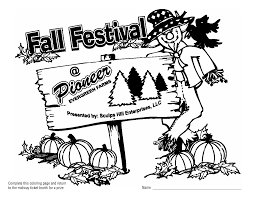Fall Festival Coloring Pages Download PDF