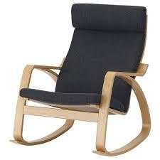 Rocking-chair POÄNG Oak Veneer, Hillared Anthracite