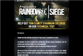 siege test image rainbow six siege technical test on 21 09 2015 to selected