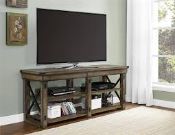 Dorel Home Furnishings Wildwood Rustic Gray TV Stand
