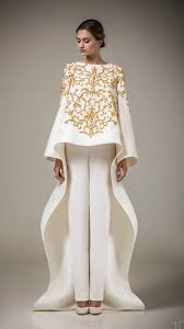 2016 ashi studio gold embroidery evening gown long sleeves a line