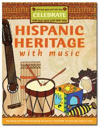 This X 11 Free Mini Poster Shares The Message Celebrate Hispanic Heritage With Music Full Color Features Many Of Unique Musical