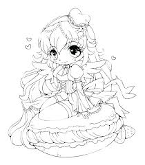 Cute Girl Coloring Pages Fresh Anime Print Food Girls