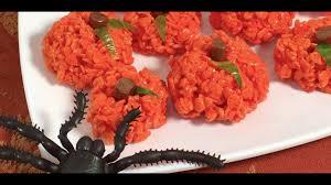Rice Krispie Treats Halloween Shapes by Pumpkin Rice Krispies Treats Halloween Youtube