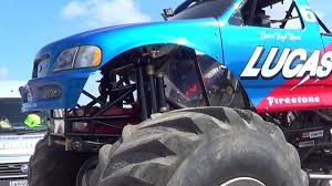 100 Monster Truck Engine Jam Bigfoot Truck Close Up On The Engine