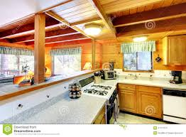 Log Cabin Kitchen Images by Kitchen Room In Log Cabin House Royalty Free Stock Image Image