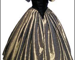 1800s Civil War Victorian Ball Gown Dress NEW Gorgeous Taffeta And Velvet