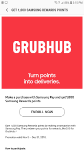 Samsung Pay Reward Points Deal: Buy 1000 Reward Points For 5.99 And ... A Grhub Discount Code For New And Returning Users Gigworkercom 10 Best Food Delivery Apps That You Must Try In 2019 Quick Trends Almost Half Of Americans Have Used An Online Top Punto Medio Noticias Rockauto Free Shipping Sarpinos Coupon Codes Laser Hair Removal Hawthorn Grhub Promo Codes Save On Your Next Working Ebates Earn 11x Mr Purchases In App Only Stack Grhub Promo Code Cottonprint Discount Edutubepluseu Samsung Pay Reward Points Deal Buy 1000 Reward Points 599 This Coupon Will Help On Gig Worker Reability Study Which Is The Site June