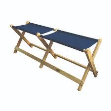 Wood & Canvas Folding Bench
