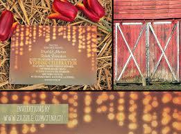 String Lights Rustic Wedding Invitation