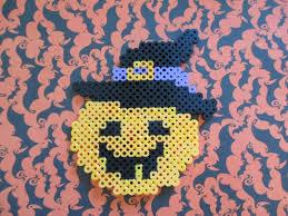 Halloween Perler Bead Patterns by Perler Bead Pumpkin Witch Tutorial Youtube