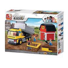 Sluban Dump Truck M38-B0552 Town Construction Educational Building ... Green Toys Eco Friendly Sand And Water Play Dump Truck With Scooper Dump Truck Toy Colossus Disney Cars Child Playing With Amazoncom Toystate Cat Tough Tracks 8 Toys Games American Plastic Gigantic And Loader Free 2 Pc Cement Combo For Children Whosale Walmart Canada Buy Big Beam Machine Online At Universe Fagus Wooden Jual Rc Excavator 24g 6 Channel High Fast Lane Pump Action Garbage Toysrus