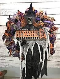 Grandin Road Halloween Wreath by Halloween Jason Mesh Wreath U2013 Friday The 13th Inspired