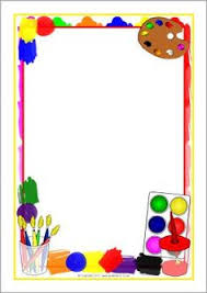 Painting Themed A4 Page Borders SB5756