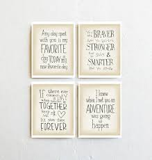 Winnie The Pooh Nursery Decor Ireland by Winnie The Pooh Print Set Of 4 Quotes Wall Art Baby