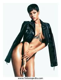 Rihanna Tattoos Chest Meaning 2