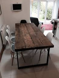 hier ist unser esstisch für 6 8 personen hergestellt aus