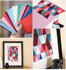 DIY Paint Chip Wall Art Diy Crafts Do It Yourself Tips Ideas Photo Picture Photography