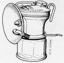 Carbide Miners Lamp Fuel by Lighting Used In The Wisconsin Lead And Zinc Mines