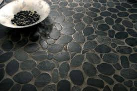 sliced pebble tile pebble floors flooring beyond tile