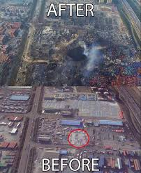 The Tianjin Blast Crater After Epic Explosion
