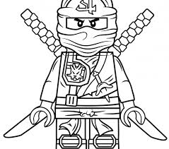 Ninja Coloring Page Lego Ninjago Green Free Printable Pages Drawing