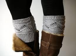 light grey knit boot socks boot cuffs boot toppers leg