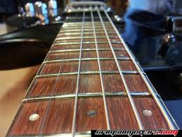 Leveling Crowning And Dressing The Frets Of A Worn PRS Guitar Fretboard