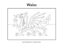 Welsh Flag Colouring Page