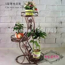 Rustic Multi Layer Fashion Iron Flower Stand Balcony Indoor French Pot Holder Hanging Basket