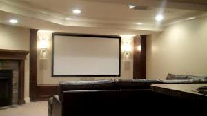 Ceiling Mount For Projector Screen by Basement Finishing Planning For A Home Theater