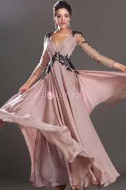 sheer long sleeve v neck a line long popular semi formal lace