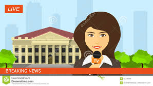 Live News Reporter Stock Vector Illustration Of