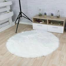 schaffell rund carpet weich teppich wohnzimmer shaggy