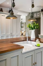 Rustic Pendant Lighting In A Farmhouse Kitchen