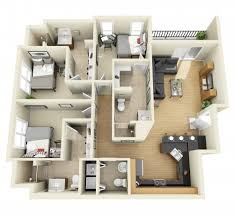 Bedroom Condo Floor Plans Photo by 4 Bedroom Small House Plans 3d Smallhomelover 2 Things To