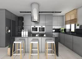 cuisine grise et plan de travail noir cuisine grise plan de travail noir en photo