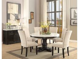 Nolan 5 Piece Round Dining Table Set With Real Marble Top By Acme ... Hillsdale Fniture Monaco 5piece Matte Espresso Ding Set Glass Round Table And 4 Chairs Modern Wicker Chair 5 Pcs Gia Ebony 1stopbedrooms Room Elegant Nook Traditional Sets Cheap Kitchen Elegant Home Design Round Glass Ding Room Table And Chairs Signforlifeden Within Neoteric Design Inspiration Tables Mhwatson For Small