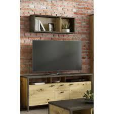 details zu tv wand 2 tlg lowboard set multimedia wandboard tv tisch wohnzimmer industrial