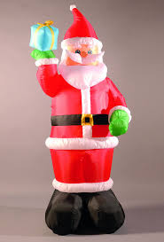 inflatable 240cm 8ft santa holding a present 49 99